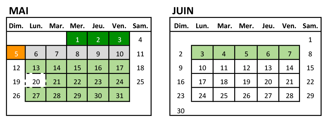 Mai Calendrier 2019.Calendrier 2018 2019 Mai Juin Les Petits Violons